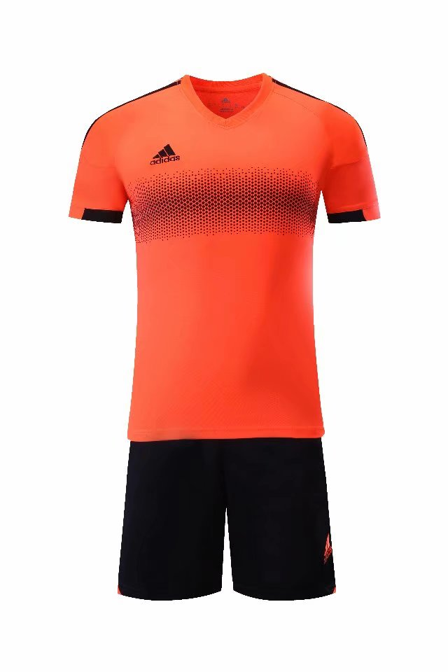 Adidas Full Football Kit Adult Sizes only - Orange with Black Band and trim