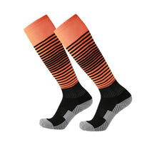 Load image into Gallery viewer, Adidas Full Football Kit Adult Sizes only - Orange with Black Stripe