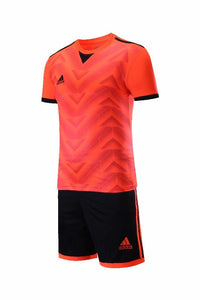 Adidas Full Football Kit Adult Sizes only - Pattern Orange.