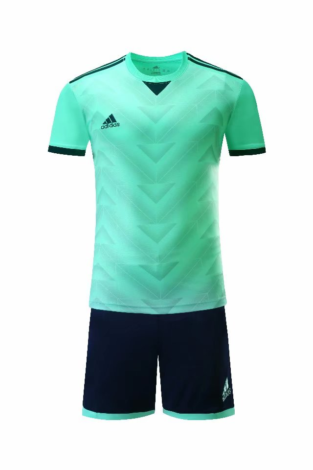 Adidas Full Football Kit Adult Sizes only - Pattern Blue with Black shorts.