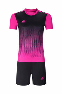 Adidas Full Football Kit Adult Sizes only - 2 tone pink and black