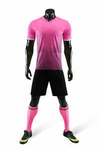 Junior Football Kit - Shaded Pink and Black.