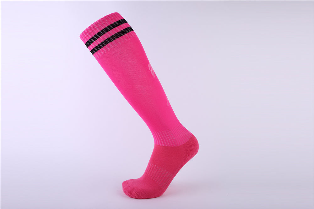 Socks Adult - Pink with two black lines