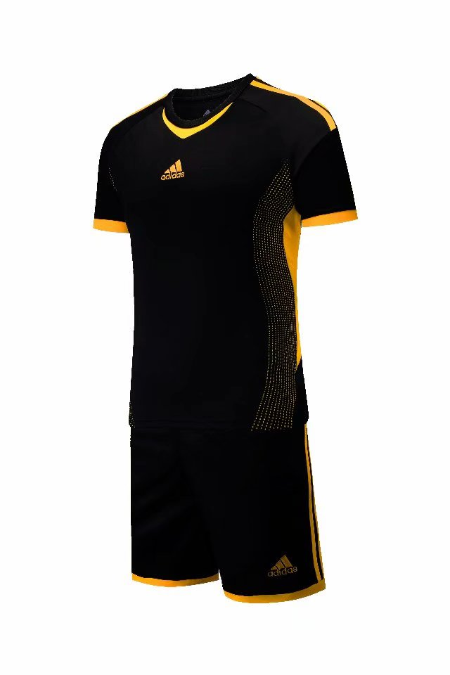 Adidas Full Football Kit Adult Sizes only -  Black with Orange Trim.