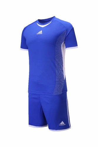 Adidas Full Football Kit Adult Sizes only -  Royal Blue with White Trim.