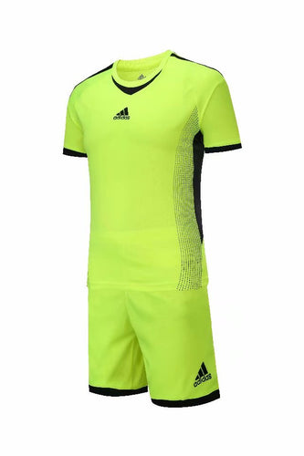 Adidas Full Football Kit Adult Sizes only -  Green with Black Trim.