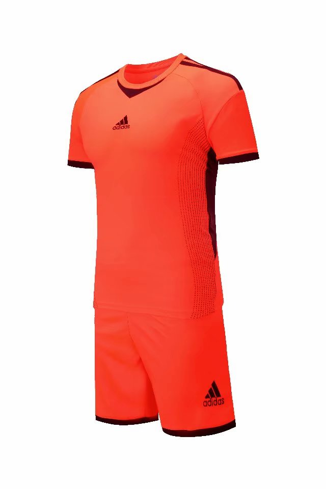 Adidas Full Football Kit Adult Sizes only - Orange with Black trim