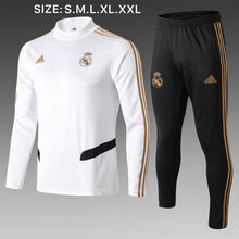 Load image into Gallery viewer, Real Madrid Bespoke Black and White Tracksuit Top & Bottoms