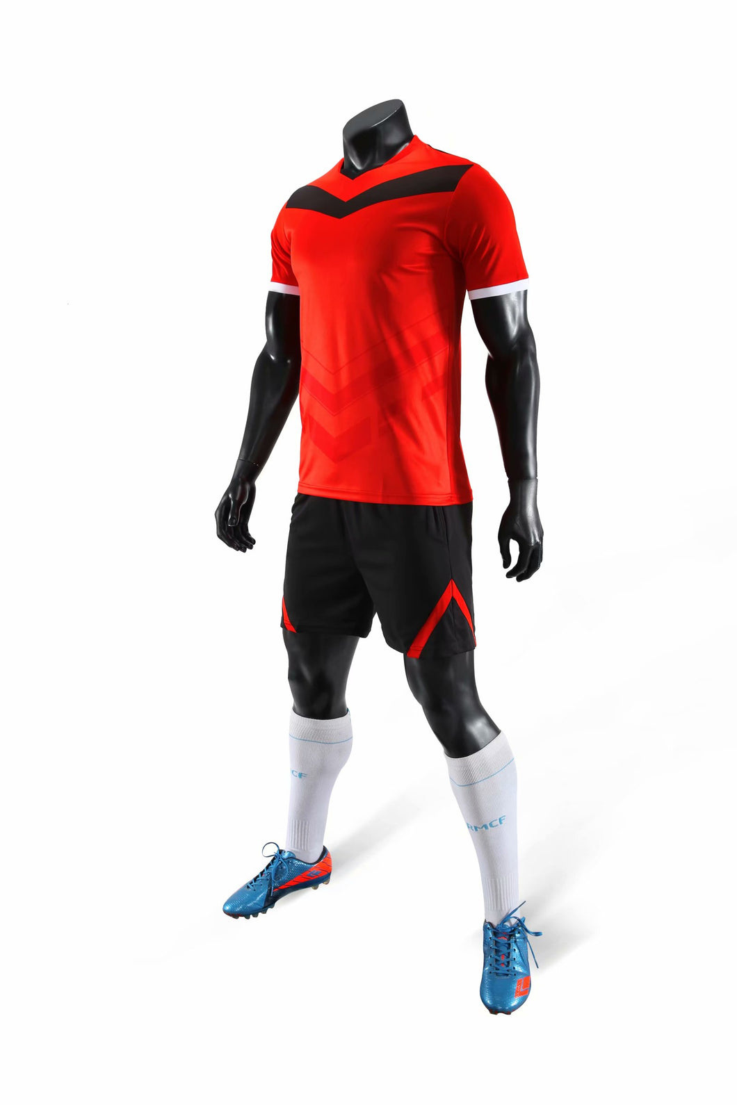 Junior Football Kit - Red and black arrow