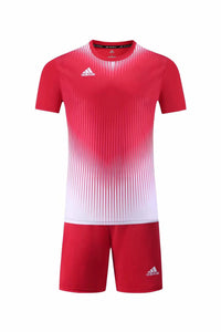 Adidas Full Football Kit Adult Sizes only - 2 tone red and white