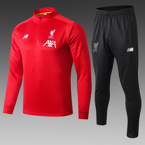 LFC Bespoke Red and Black Tracksuit Top & Bottom