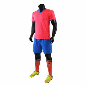 Junior Football Kit - Pink and Blue Trim