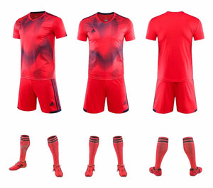 Adidas Full Football Kit Adult Sizes only - 2 tone red and blue.