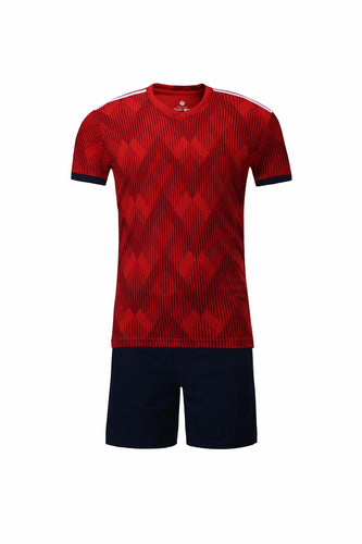 Full Football Kit - Red Top with black Shorts
