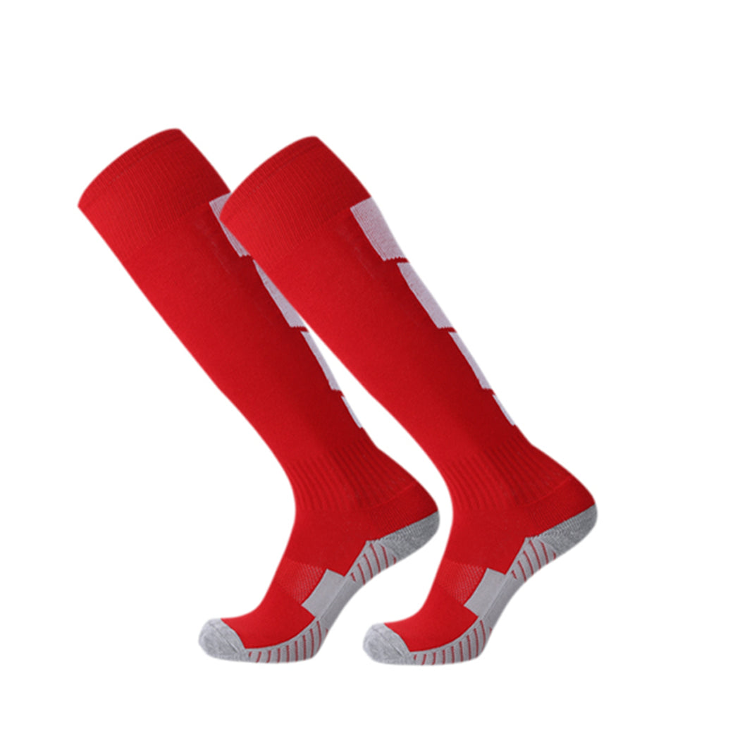 Socks Adult - Red with white back leg design