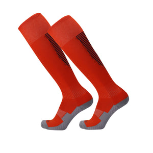 Socks Junior and Adult - Red with Black trim