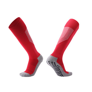 Socks Adult - Red with white trim