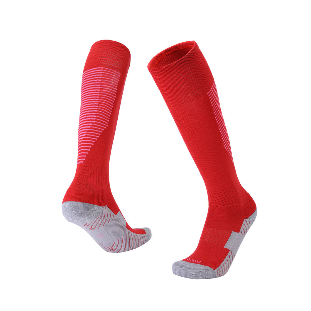 Socks Junior and Adult - Red with White trim