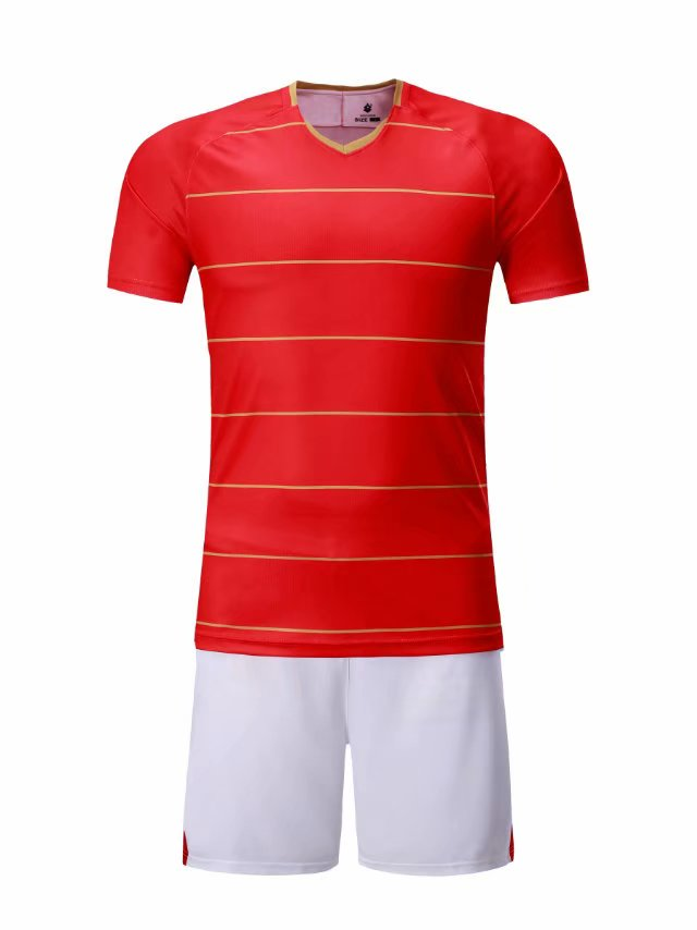 Full Football Kit - Red Top with white Shorts