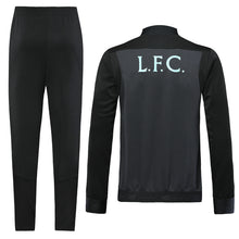 Load image into Gallery viewer, LFC Bespoke Grey and Black Tracksuit Top & Bottom