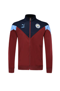 Manchester City Bespoke Red Blue Tracksuit Top & Bottom