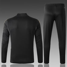 Load image into Gallery viewer, Real Madrid Black Bespoke Tracksuit Top & Bottoms