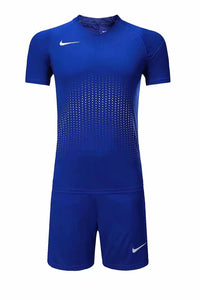 Nike Full Football Kit Adult Sizes only - Full Royal Blue with Crotchet Design