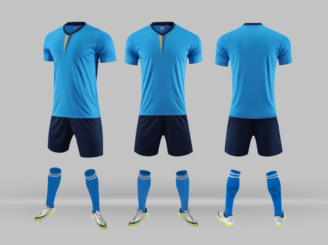 Junior Football Kit - sky blue
