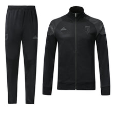 Load image into Gallery viewer, Juventus Bespoke All Black Tracksuit Top & Bottom