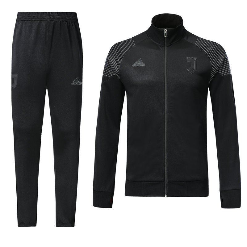 Juventus Bespoke All Black Tracksuit Top & Bottom