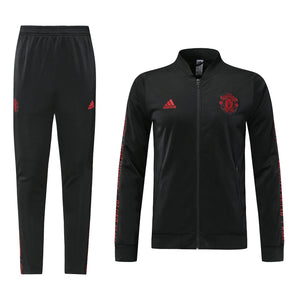Bespoke Manchester United All Black Tracksuit Top & Bottom