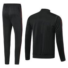Load image into Gallery viewer, Bespoke Manchester United All Black Tracksuit Top & Bottom