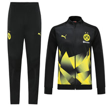 Load image into Gallery viewer, Dortmund Bespoke Black With Yellow Detail Tracksuit Top & Bottom