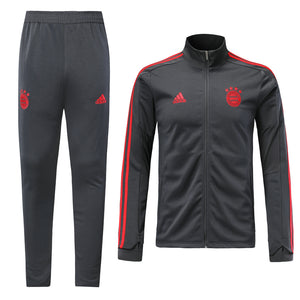Bayern Bespoke Grey Tracksuit Top & Bottom