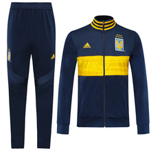 Load image into Gallery viewer, Tigres Bespoke Navy With Yellow Detail Tracksuit Top & Bottom