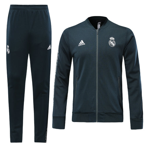 Real Madrid Bespoke Navy Tracksuit Top & Bottom