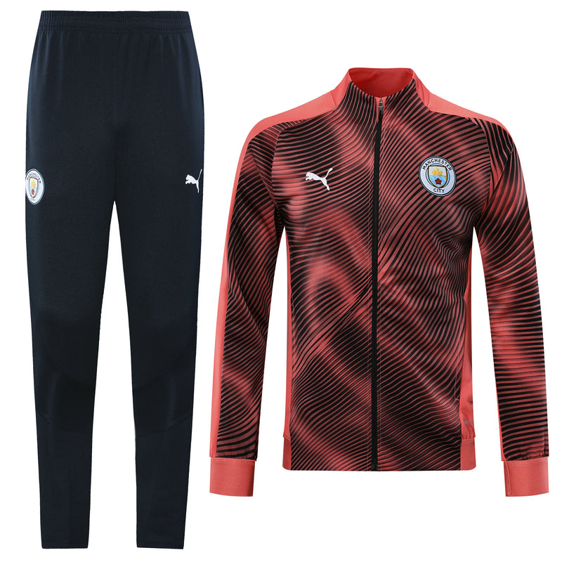 Manchester City Bespoke 2 Tone Pink Tracksuit Top and Bottom