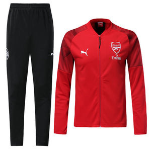 Arsenal Bespoke Red and Black Tracksuit Top & Bottom