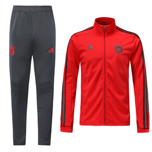 Bayern Bespoke Red and Grey Tracksuit Top & Bottom