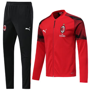 AC Milan Bespoke Red and Black Tracksuit Top & Bottom