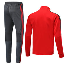 Load image into Gallery viewer, Bayern Bespoke Red and Grey Tracksuit Top & Bottom