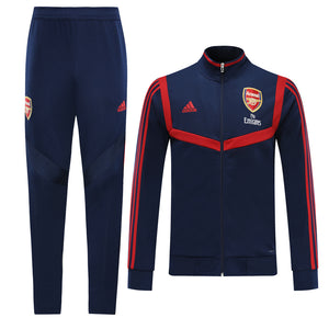 Arsenal Bespoke Royal Blue With Red Trim Tracksuit Top & Bottom