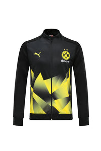 Dortmund Bespoke Black With Yellow Detail Tracksuit Top & Bottom