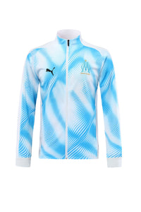 Marseilles Bespoke Sky Blue Two Tone Tracksuit Top & Bottoms
