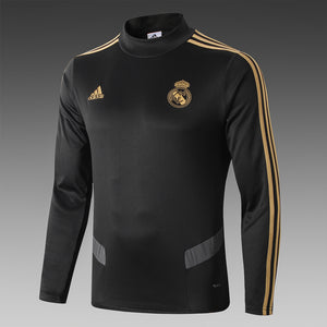Real Madrid Black Bespoke Tracksuit Top & Bottoms