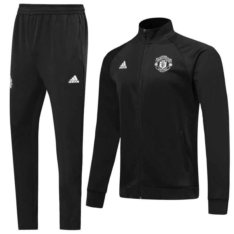 Bespoke Manchester Treble Winners Tracksuit With White Detail Top & Bottom