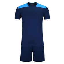 Load image into Gallery viewer, Full Football Kit - Royal Blue with Light Blue Shoulder Detail.