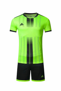 Adidas Full Football Kit Adult Sizes only – Green with Black Vertical stripe