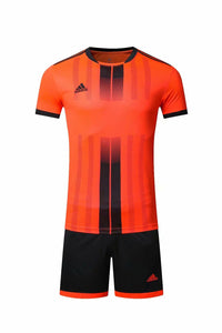 Adidas Full Football Kit Adult Sizes only – Orange with Black Vertical stripe