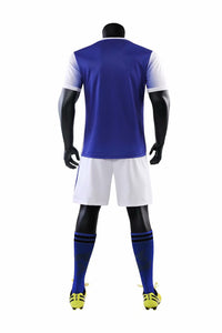 Junior Football Kit - Blue and white shade